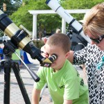 Ruth Patrick Science Telescopes and young sun viewer EDA 2017