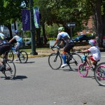 Family Bicycle Ride crossed Park Ave after leaving Newberry St. - EDA 2017