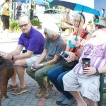 Earth Day visitors and canine - EDA 2017
